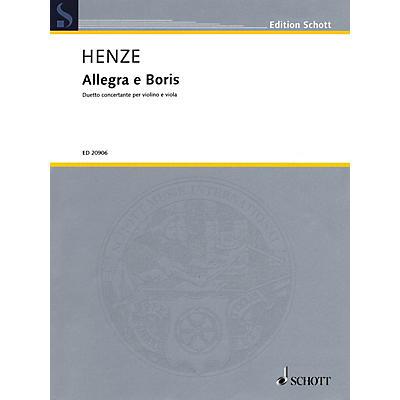 Schott Music Allegra e Boris Schott Series Composed by Hans Werner Henze