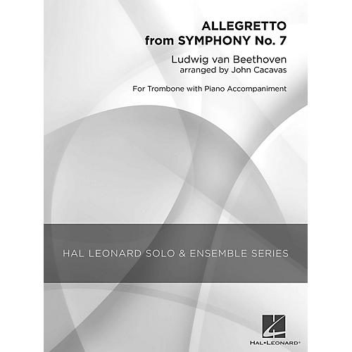 Hal Leonard Allegretto from Symphony No. 7 (Grade 1 Trombone Solo) Concert Band Level 1 Arranged by John Cacavas