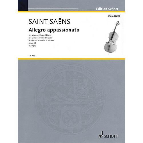 Schott Allegro Appassionato in B Minor, Op. 43 (for Cello and Piano) String Series