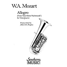 Southern Allegro (from Eine Kleine Nachtmusik) (2 Euphoniums/2 Tubas) Southern Music Series Arranged by Al Peoples