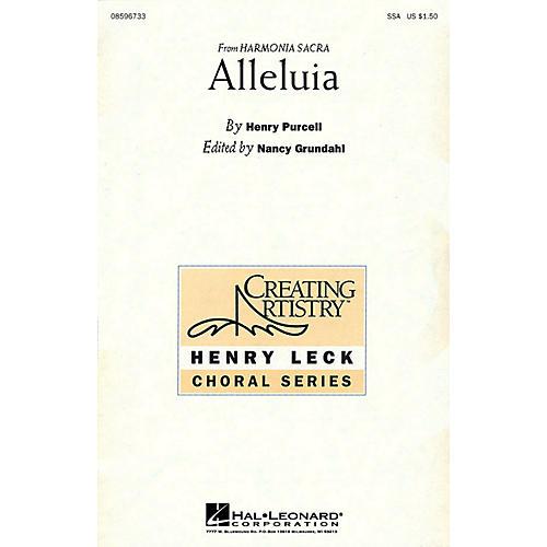 Hal Leonard Alleluia (SSA) SSA arranged by Nancy Grundahl