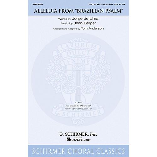 G. Schirmer Alleluia (from Brazilian Psalm) SATB arranged by Tom Anderson