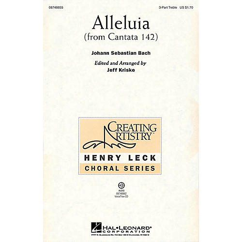 Hal Leonard Alleluia (from Cantata 142) VoiceTrax CD Arranged by Jeff Kriske