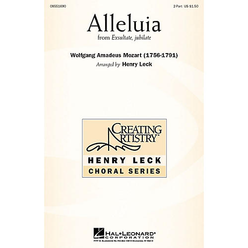 Hal Leonard Alleluia (from Exsultate, Jubilate) 2-Part arranged by arr. Henry Leck
