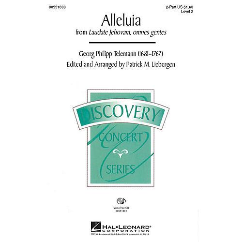 Hal Leonard Alleluia (from Laudate Jehovam, omnes gentes) VoiceTrax CD Arranged by Patrick M. Liebergen