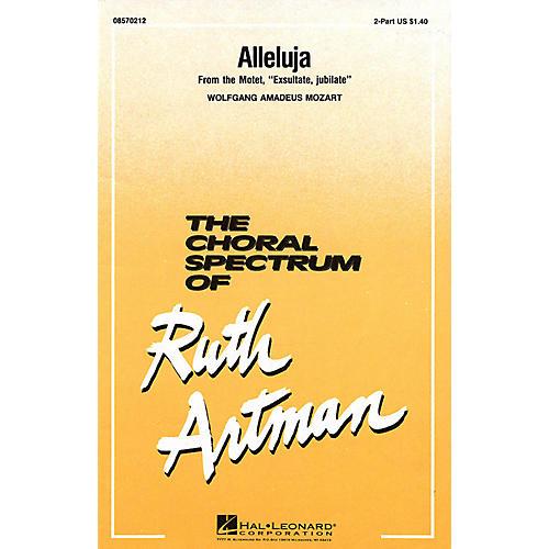 Hal Leonard Alleluja 2-Part arranged by Ruth Artman