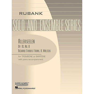 Rubank Publications Allerseelen (Op. 10, No. 8) Rubank Solo/Ensemble Sheet Series