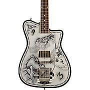 Alliance Johnny Depp Semi-Hollow Electric Guitar Black/Aluminum