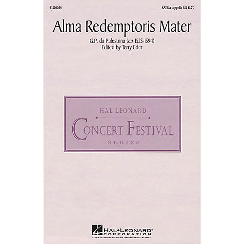 Hal Leonard Alma Redemptoris Mater SATB a cappella arranged by Terry Eder