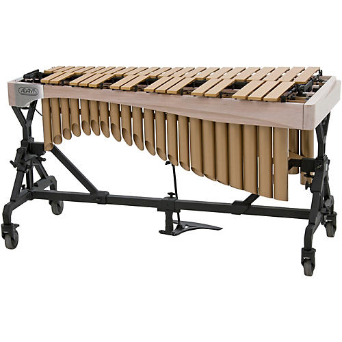 Adams Alpha Series 3.0 Octave Vibraphone, Gold Bars Motor Traveler Frame White Wash Rails