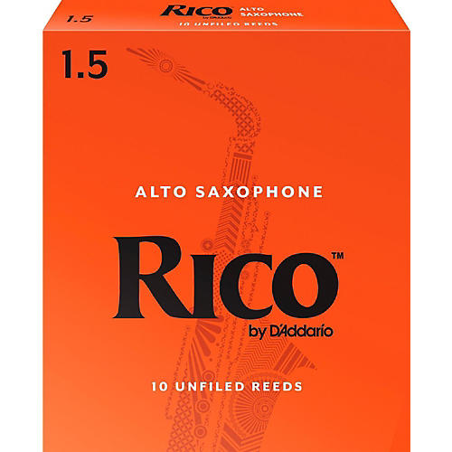 Rico Alto Saxophone Reeds, Box of 10 Strength 1.5