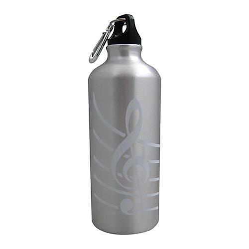 AIM Aluminum Bottle G Clef Silver