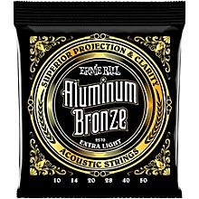 Ernie Ball Aluminum Bronze Extra Light Acoustic Guitar Strings