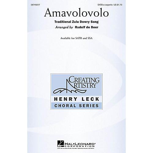 Hal Leonard Amavolovolo SSAA Arranged by Rudolf de Beer