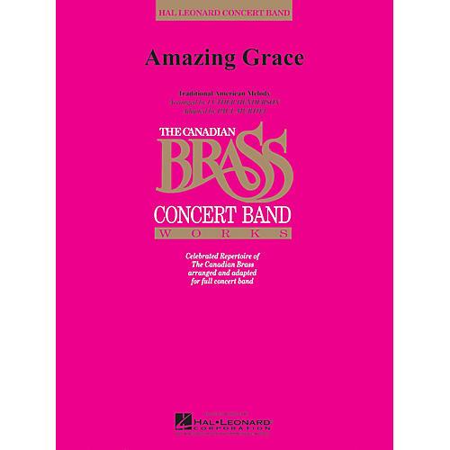 Hal Leonard Amazing Grace (Canadian Brass Concert Band) Concert Band Level 3-4 Arranged by Paul Murtha