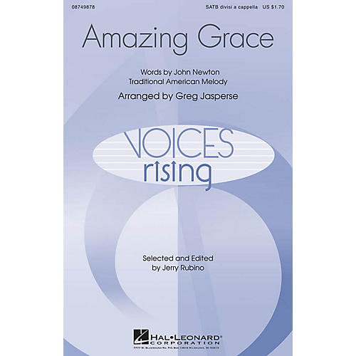 Hal Leonard Amazing Grace SATB DV A Cappella arranged by Greg Jasperse