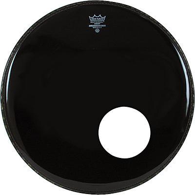 "Remo Ambassador Bass Drum Head with 5.5"" Port Hole"