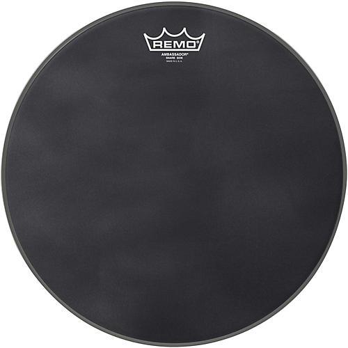 remo ambassador black suede snare side drum head matte black 14 musician 39 s friend. Black Bedroom Furniture Sets. Home Design Ideas