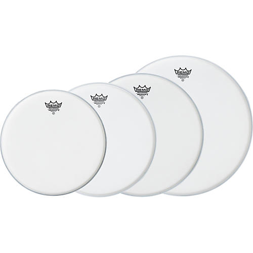 Remo Ambassador X Standard Drumhead Pack, Buy 3 Get a Free 14 Inch Head