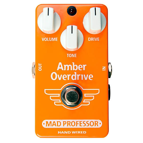 Mad Professor Amber Guitar Overdrive and Fuzz Hand Wired Guitar Effects Pedal