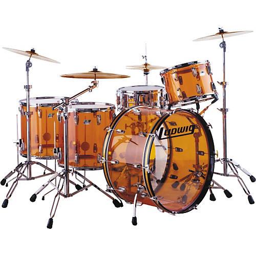 ludwig amber vistalite 5 piece reissue drum set musician 39 s friend. Black Bedroom Furniture Sets. Home Design Ideas