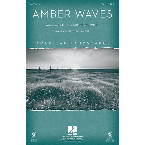 Hal Leonard Amber Waves (from American Landscapes) SSA composed by Audrey Snyder