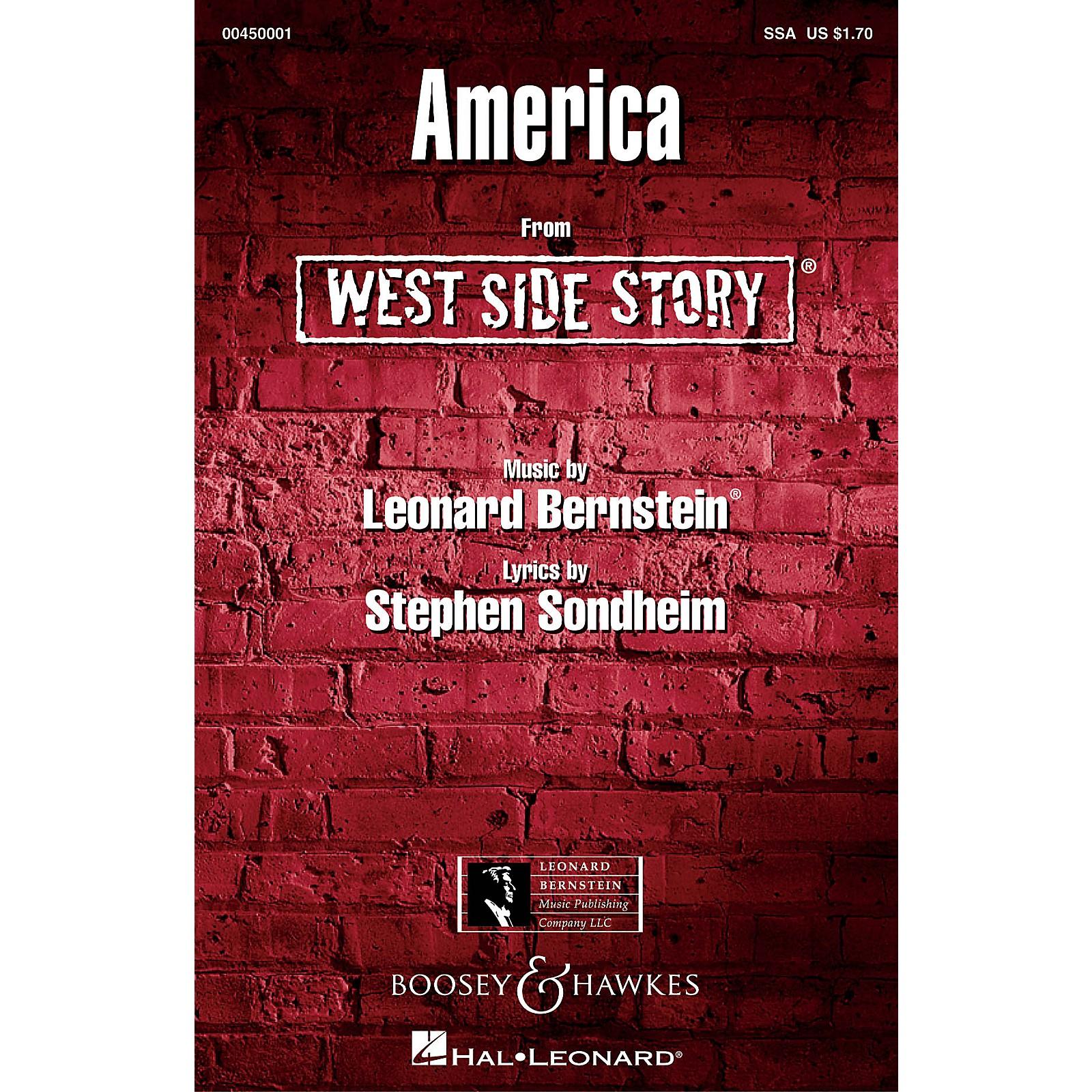 Leonard Bernstein Music America (from West Side Story) SSA Arranged by William Stickles