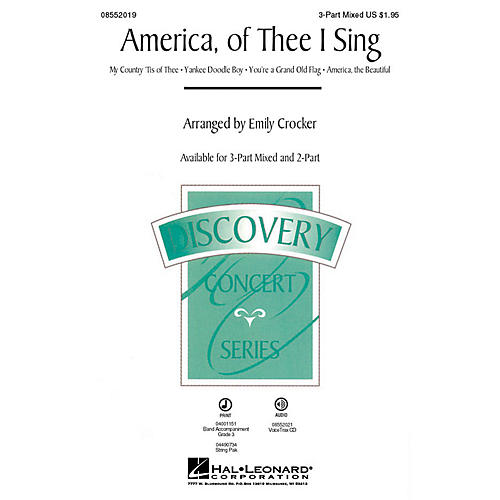 Hal Leonard America, of Thee I Sing (Medley) VoiceTrax CD Arranged by Emily Crocker
