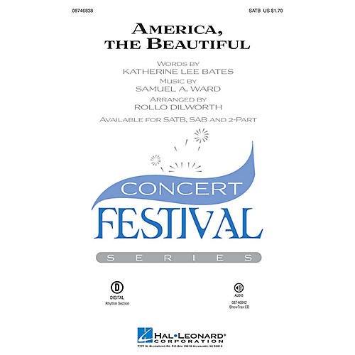 Hal Leonard America, the Beautiful 2-Part Arranged by Rollo Dilworth