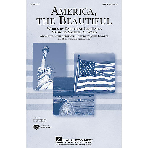 Hal Leonard America, the Beautiful (TTBB) TTBB Arranged by John Leavitt