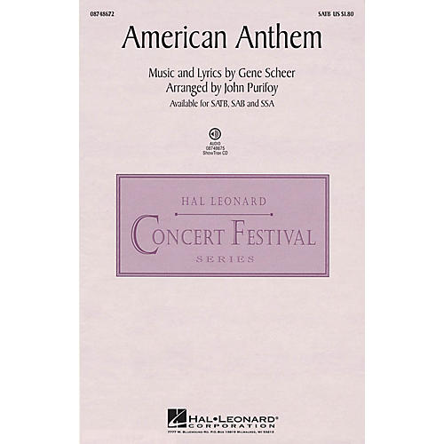 Hal Leonard American Anthem ShowTrax CD Arranged by John Purifoy