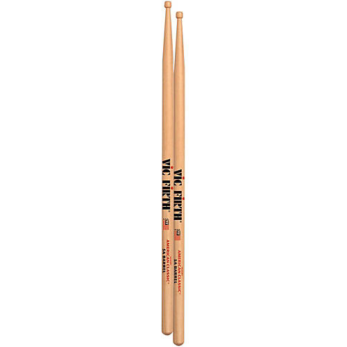 Vic Firth American Classic Drum Sticks With Barrel Tip Wood 5A