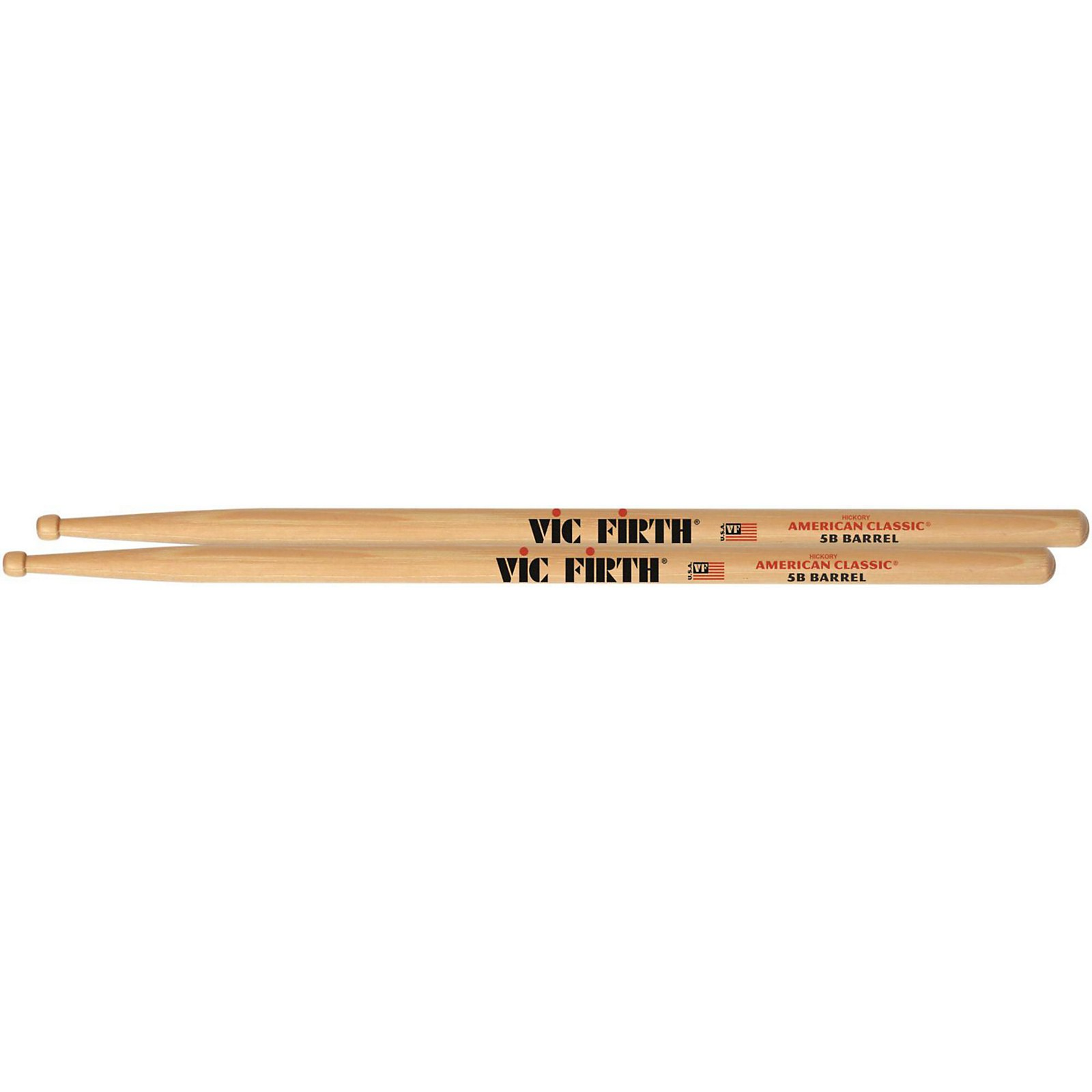 Vic Firth American Classic Drum Sticks With Barrel Tip