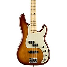 American Elite Precision Bass Maple Fingerboard Electric Bass Tobacco Sunburst