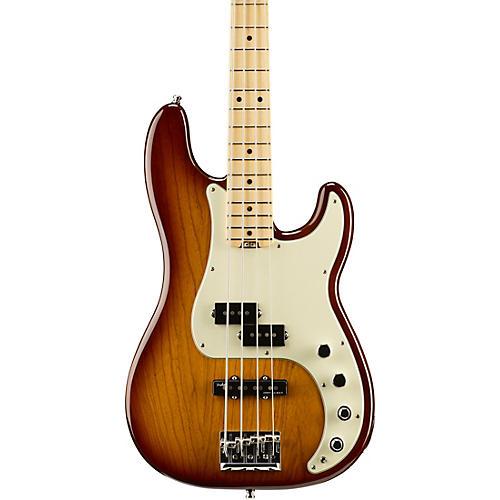 Fender American Elite Precision Bass Maple Fingerboard Electric Bass Tobacco Sunburst