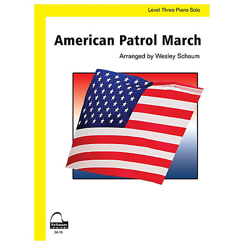 SCHAUM American Patrol March Educational Piano Book by Frank Meacham (Level Early Inter)