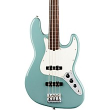 American Professional Fretless Jazz Bass Rosewood Fingerboard Sonic Gray