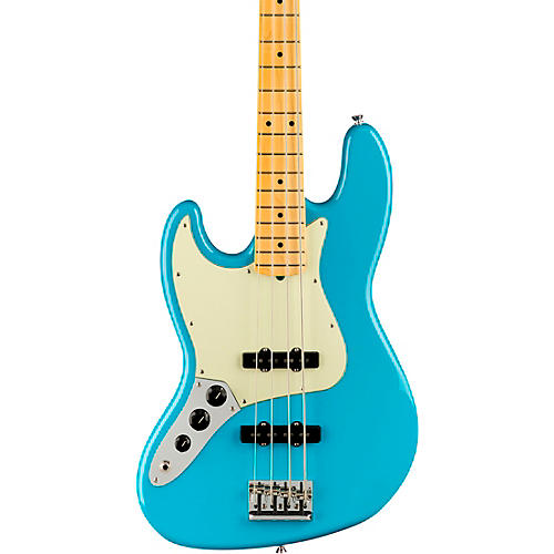 Fender American Professional II Jazz Bass Maple Fingerboard Left-Handed Miami Blue