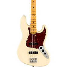 American Professional II Jazz Bass Maple Fingerboard Olympic White