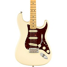 American Professional II Stratocaster Maple Fingerboard Electric Guitar Olympic White