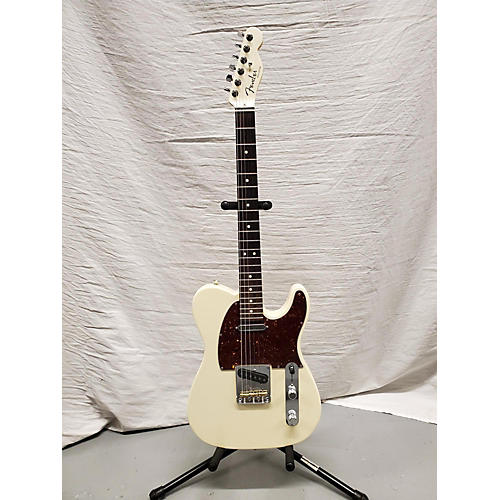 Fender American Showcase Telecaster Solid Body Electric Guitar Olympic White