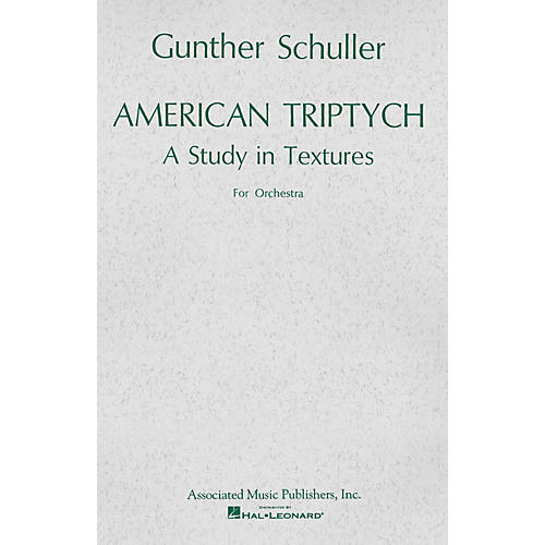 Associated American Triptych (1965) (Miniature Full Score) Study Score Series Composed by Gunther Schuller