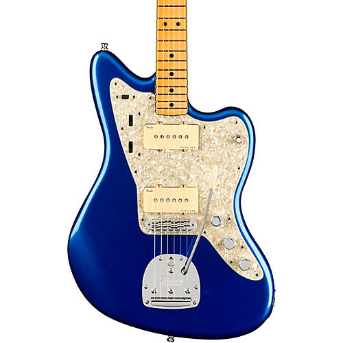 Fender American Ultra Jazzmaster Maple Fingerboard Electric Guitar Cobra Blue