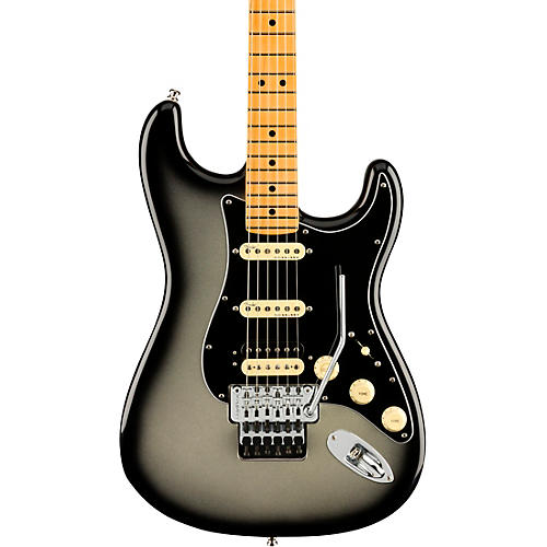 Fender American Ultra Luxe Stratocaster HSS Floyd Rose Maple Fingerboard Electric Guitar Silver Burst