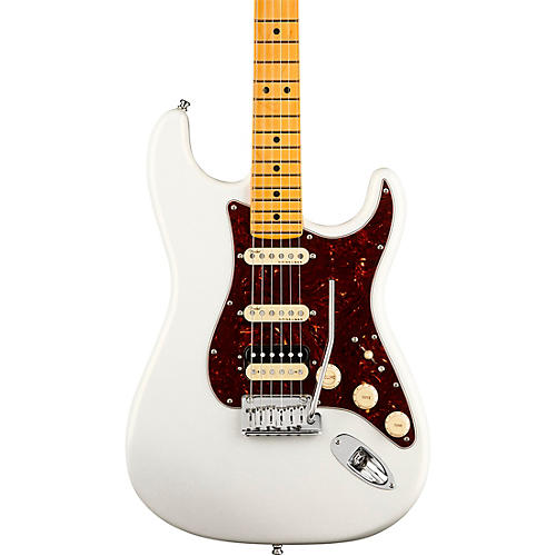 Fender American Ultra Stratocaster HSS Maple Fingerboard Electric Guitar Arctic Pearl