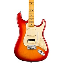 American Ultra Stratocaster HSS Maple Fingerboard Electric Guitar Plasma Red Burst