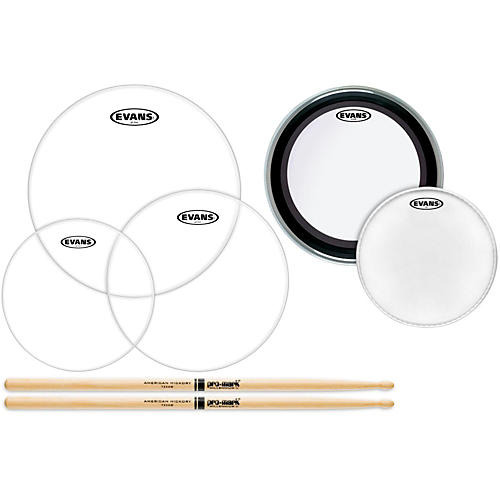 Evans American Upgrade Pack with ProMark 5A Sticks