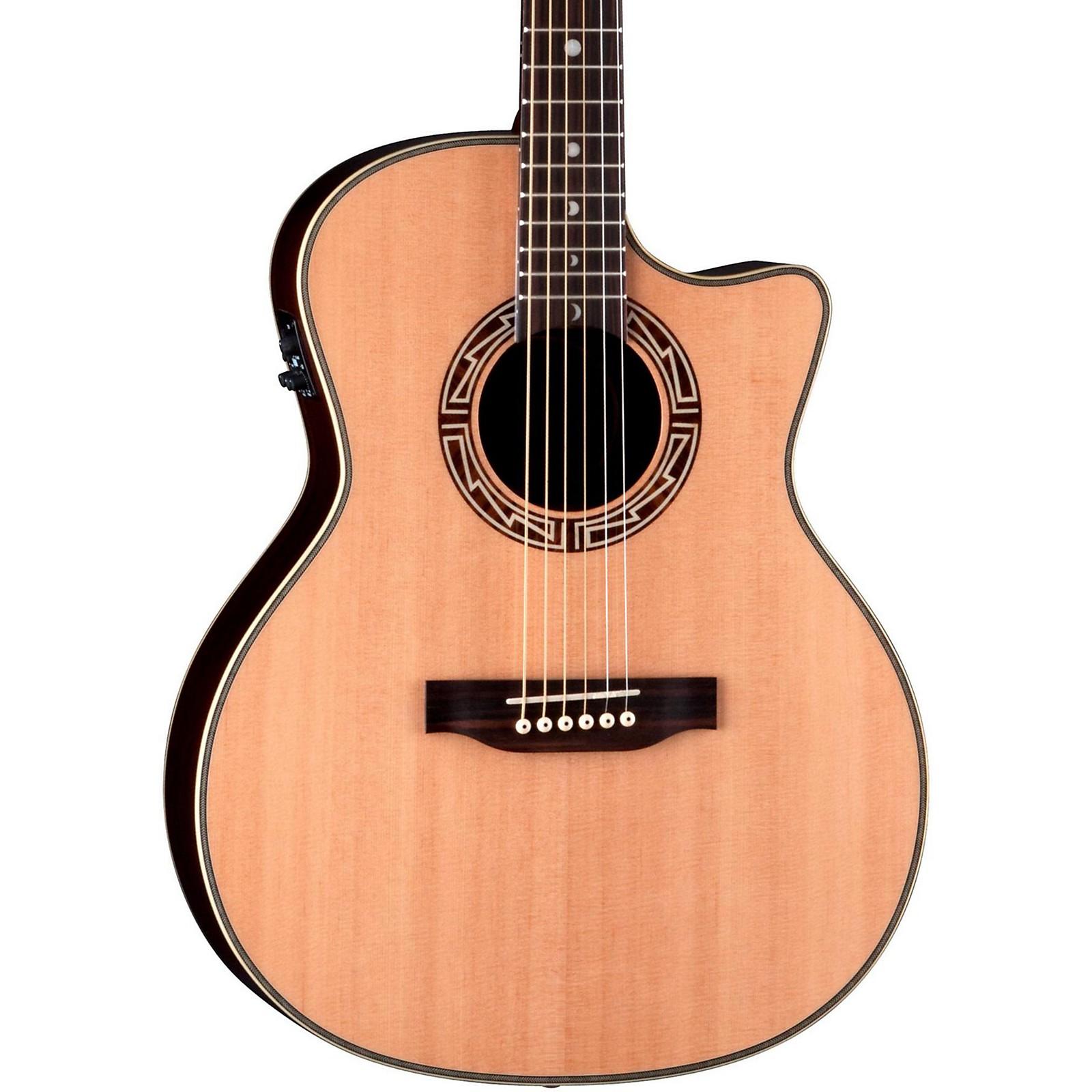 New Luna Guitars AMP 100 Americana Parlor Cutaway w/ BBand