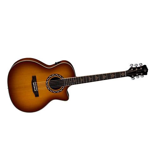 Luna Guitars Americana Inspired AMZ 100 Zia Acoustic-Electric Guitar