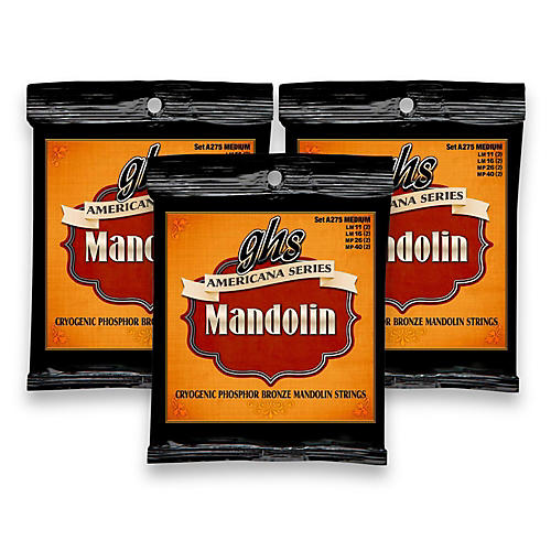 GHS Americana Medium Mandolin Strings (11-40) - 3 Pack